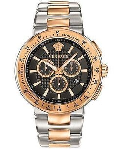 Versace Versace Vfg100014 Mens Mystique Sport Swiss Chronograph Tone Watch Stainless