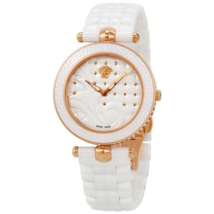 Versace Versace White Quilted Dial Ladies Watch