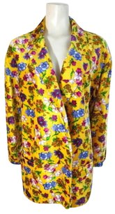 Versace Vintage Yellow/Multi-color floral Jacket