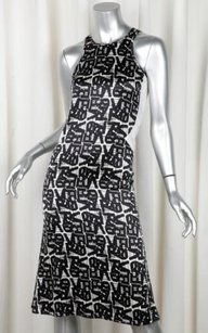Versus Versace short dress Black Womens Silk Sleeveless Long Shift 2438 on Tradesy