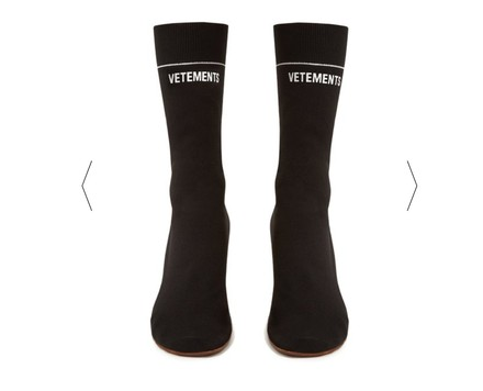 Vetements Sock Lighter Heel Stretch Jersey Balenciaga Black Boots