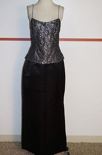 Victor Costa Victor Costa Black Silver Formal Top Size 10 Skirt Formal Wear 6206