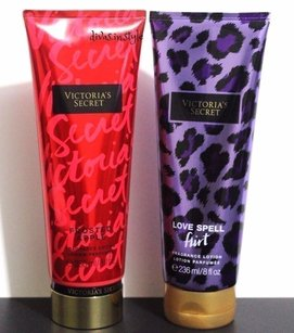 Victoria's Secret Frosted Apple Love Spell Fragrance Lotion Set of 2 Full Sz NWT