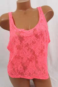 Victoria's Secret Victorias Pink M Crop T Shirt Orange