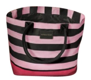 Victoria's Secret Nwt Stripe Beach Tote Large Pink, Black Beach ...