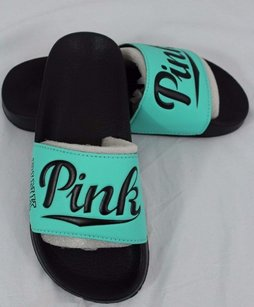 Victoria's Secret Victorias Pink Nation Green Sandals