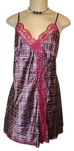 Victoria's Secret Victorias Secret Purple Pink Lace Brushstrokes Babydoll Nightie Lingerie