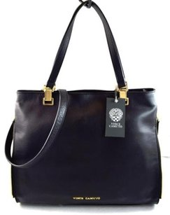 Vince Camuto Leather Buffy Tote in Black