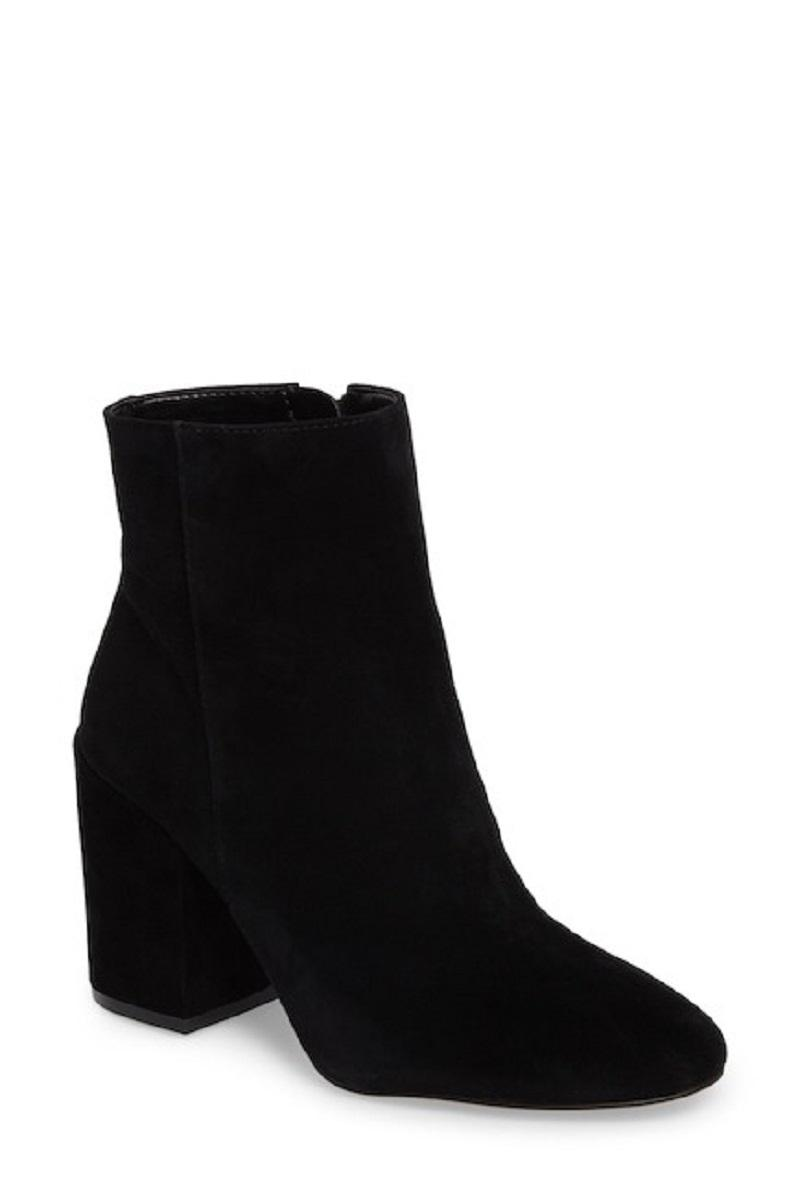 b5220da0acf Vince Camuto Black Destilly Suede Suede Suede Leather Ankle Boots ...
