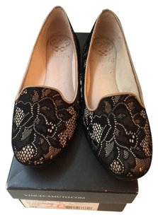 Vince Camuto Black/nude Flats