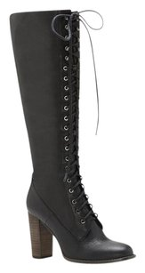 Vince Camuto Gritella Lace Up Black Boots
