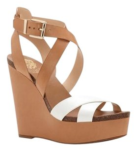 Vince Camuto Kristy Strappy Sandal brown Wedges