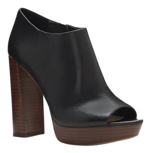 Vince Camuto Kyrie Peep Toe BLACK BUTTER CALF Boots