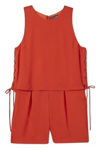Vince Camuto Lace-up Romper Dress