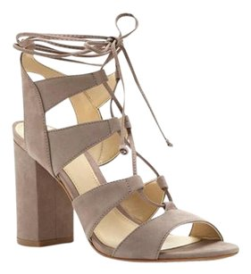 Vince Camuto Winola Lace Up STONE TAUPE NUBUCK Sandals