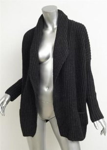 Vince Womens Black Wool Blend Knit Casual Cardigan Sweater