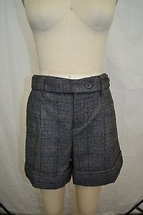 Vince Charcoal Brown Wool Shorts Gray