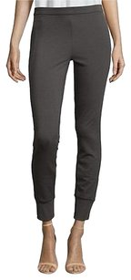Vince Charcoal Leather Gray Leggings