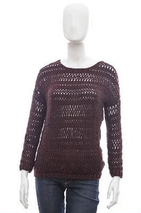 Vince Burgundy Red Loose Knit Sweater