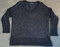 Vince Womens Black Silver Sweater