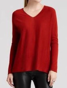 Vince Double V Cashmere Wool Blend Sweater