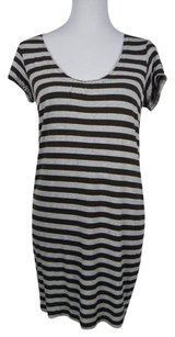 Vince short dress Striped Stretchy Shift on Tradesy