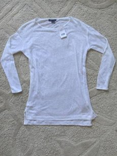 Vince Womens Linen Top White