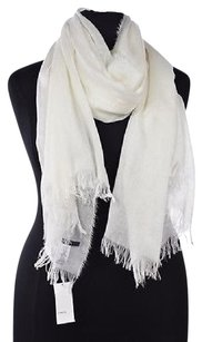 Vince Vince Womens White Scarf Os Solid Cashmere Casual Fringed