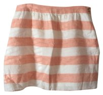 Vineyard Vines Striped Mini Skirt orange/white