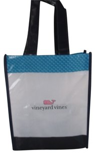 Vineyard Vines Tote in white blue pink