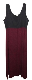black and red Maxi Dress by Vintage Clothing