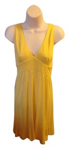 Vintage Shoshana short dress Yellow on Tradesy