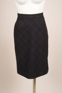 Vivienne Westwood Grey Red Skirt Gray