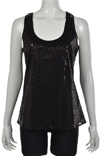 Walter by Walter Baker Womens Sequined Casual Shirt Top Black