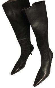 Walter Steiger Leather Pointed Toe Glove Kinky W Back Zip Brown Boots