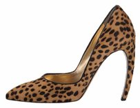 Walter Steiger Pony Hair Curved Heel Leopard Pumps