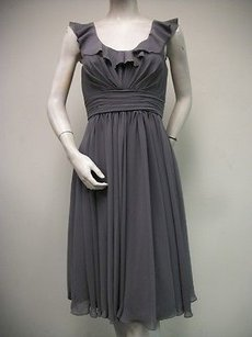 Watters short dress Gray Wtoo By Flounced Scoop Neck Gathered 916 on Tradesy