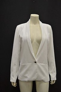 Waverly Grey Waverly Grey Anthropology White Boyfriend Blazer Jacket 120772f