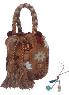 Wayuu Tribe Satchel in multicolor Earthy colors