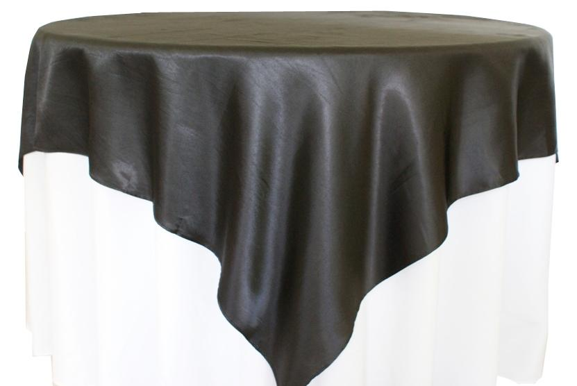 Charmant Wedding Linens Direct Black Overlays 85