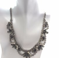 Weiss Furs Vintage Weiss Rhinestone Silver Tone Necklace And Earrings 16