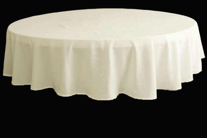 White 90 Inch Round Tablecloths 20