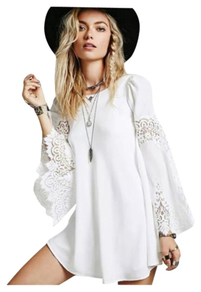 White Brand New Boho Chic Lace Accented XL runs smaller