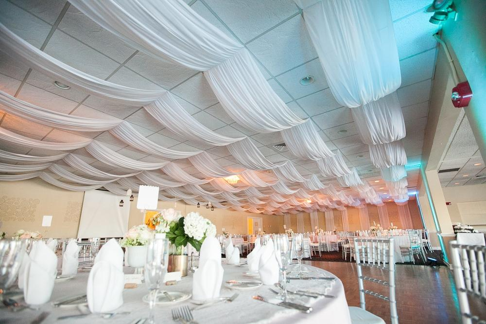 Great White Ceiling Draping Fabric And Instructions  Dropped Ceiling Easy Install  Diy ...