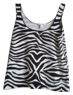 White House | Black Market Animal Cheetah Leopard Top Black & White Zebra Print