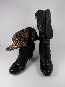 White Mountain Giddy Mid Calf Black Boots