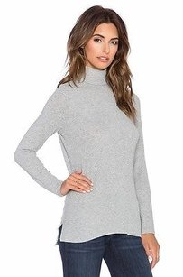 White + Warren Heather Top grey