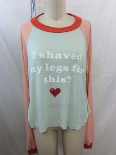 Wildfox Peach Green I Shaved Sweater