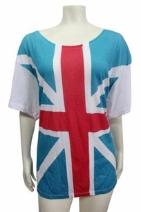 Wildfox Couture Flag Top White blue