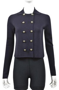 Worth Womens Petite Navy Basic P Wool Textured Coat Casual Blue Jacket